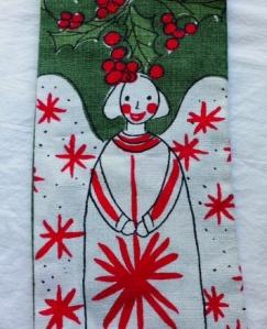 Vera Neumann Christmas Angel Tea Towel