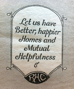 The Motto of The National Radio Homemakers Club